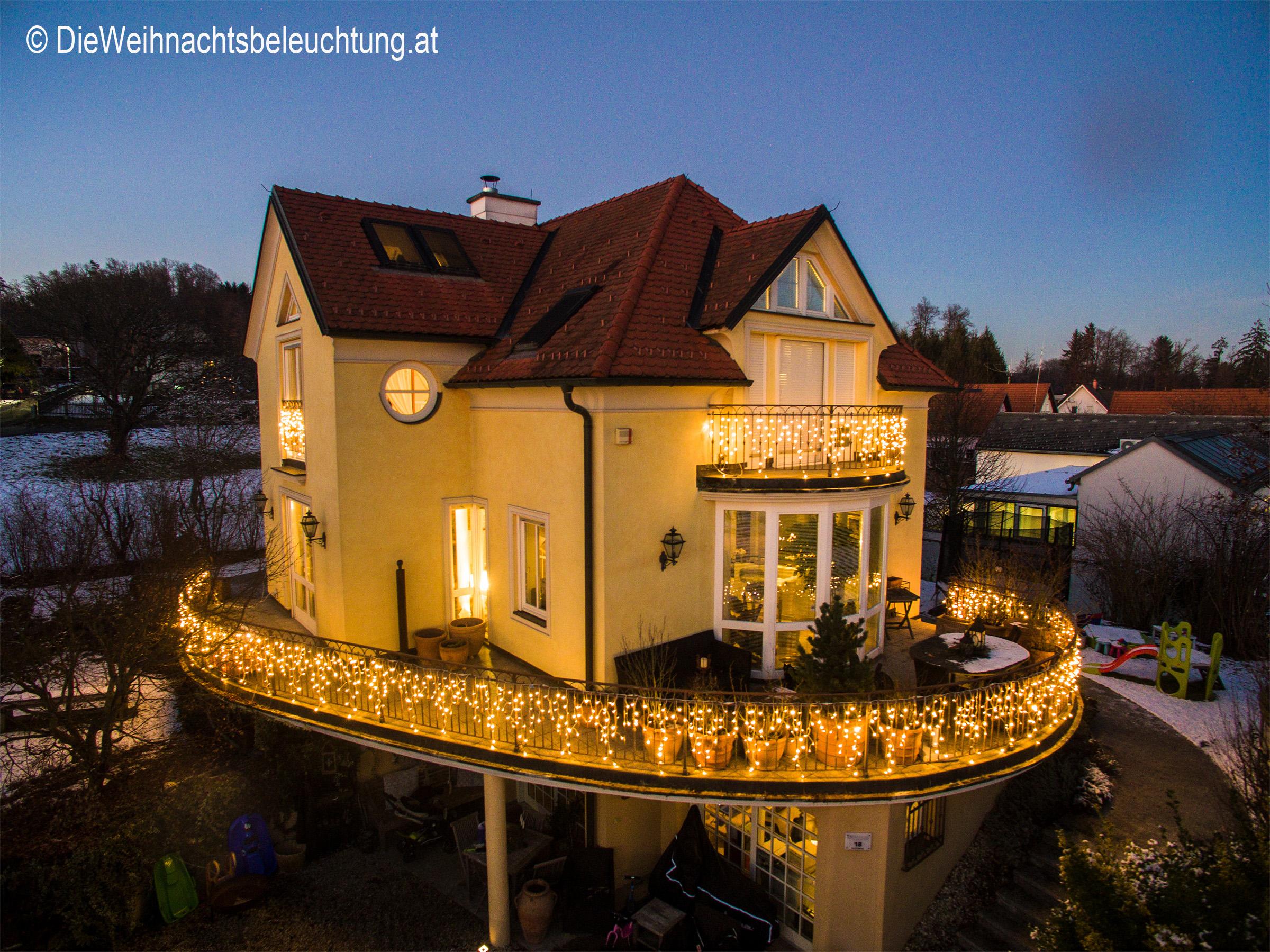 Weihnachtsbeleuchtung Für Balkongeländer.Weihnachtsbeleuchtung Für Haus Und Garten Dieweihnachtsbeleuchtung